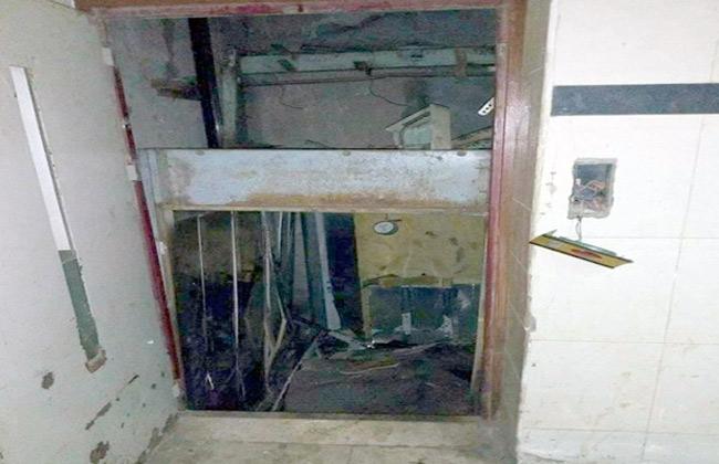 سقوط أسانسير عمارة سكنية بالزقازيق