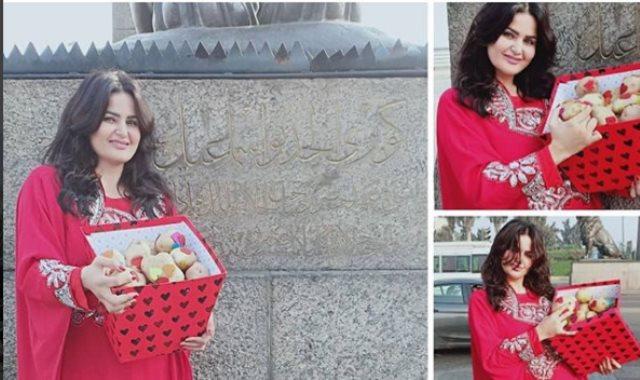 سما المصري تحتفل بعيد الحب المصري بالبطاطس