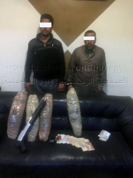 شخصين بحوزتهما أسلحة نارية وبانجو بأبوحماد