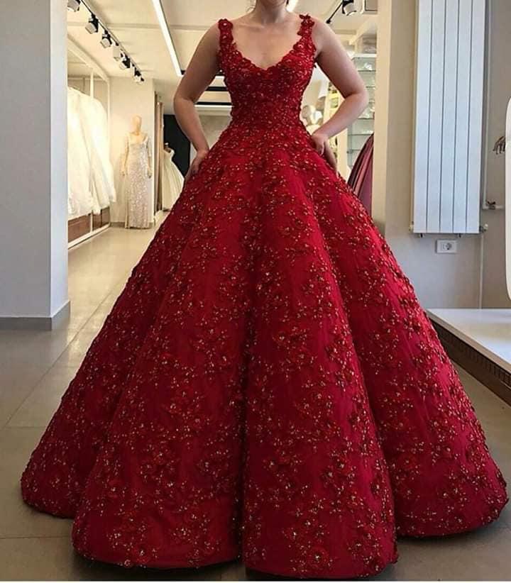 فستان أحمر موضة 2019