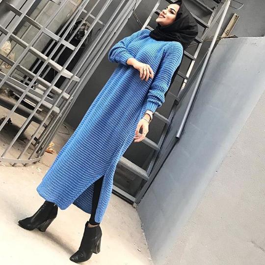 فستان بيبي بلو موضة شتاء 2019