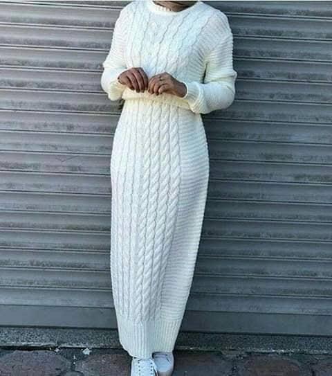فستان صوف موضة شتاء