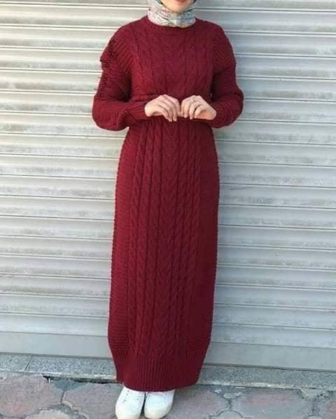 فستان صوف موضة 2019
