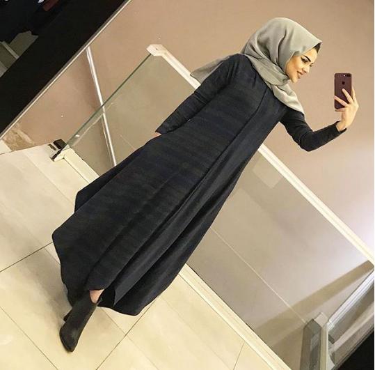 فستان للمحجبات موضة شتاء 2019فستان للمحجبات موضة شتاء 2019