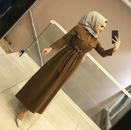 فستان محجبات موضة شتاء 2019