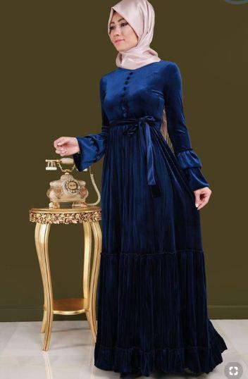 فستان أزرق موضة 2019
