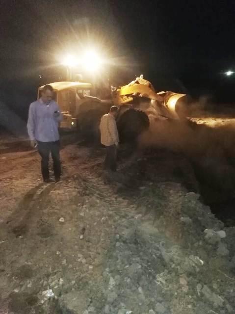 محافظ الشرقية يوقف بناء منزل مخالف على أرض زراعية بفاقوس