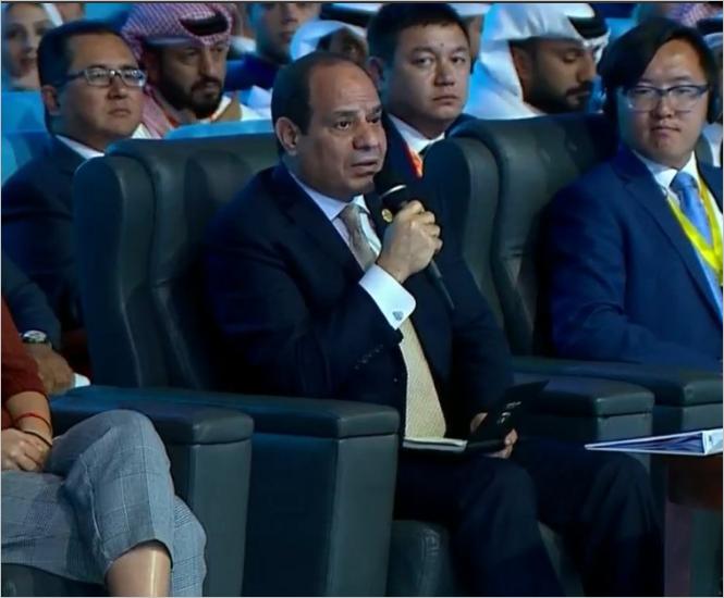 الرئيس السيسي في منتدى شباب العالم 2018