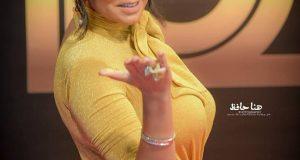 رانيا يوسف بالفستان الأصفر