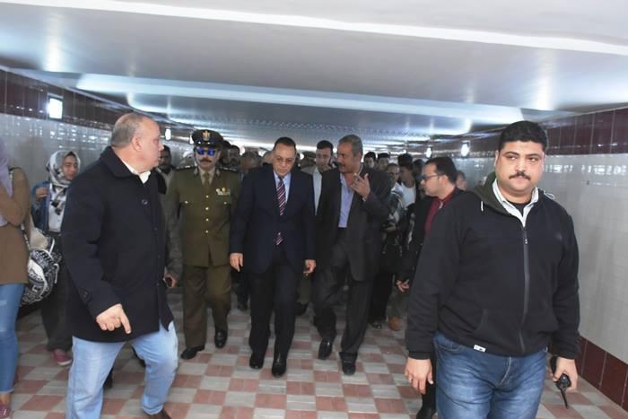 محافظ الشرقية يفتحح نفق المحطة بالزقازيق بعد تجديده