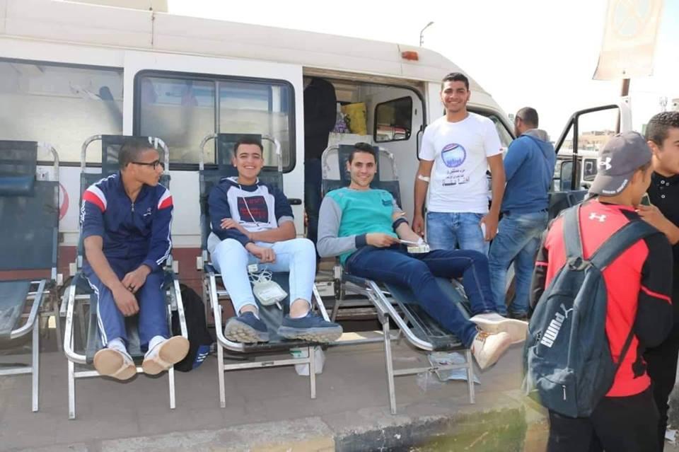 مستقبل وطن يقود حملة للتبرع بالدم أمام جامعة الزقازيق