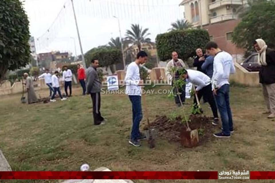 وطن ينظم حملة لنظافه وتشجير مدخل ديرب نجم