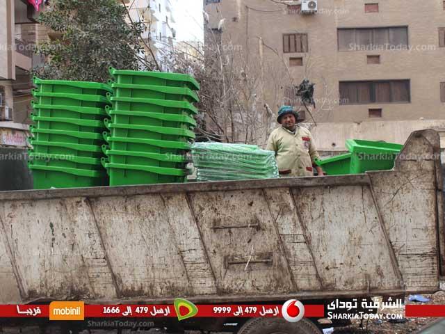 نقطة وسيطة لتجميع القمامة بمنشأة ناصر لخدمة أولاد صقر
