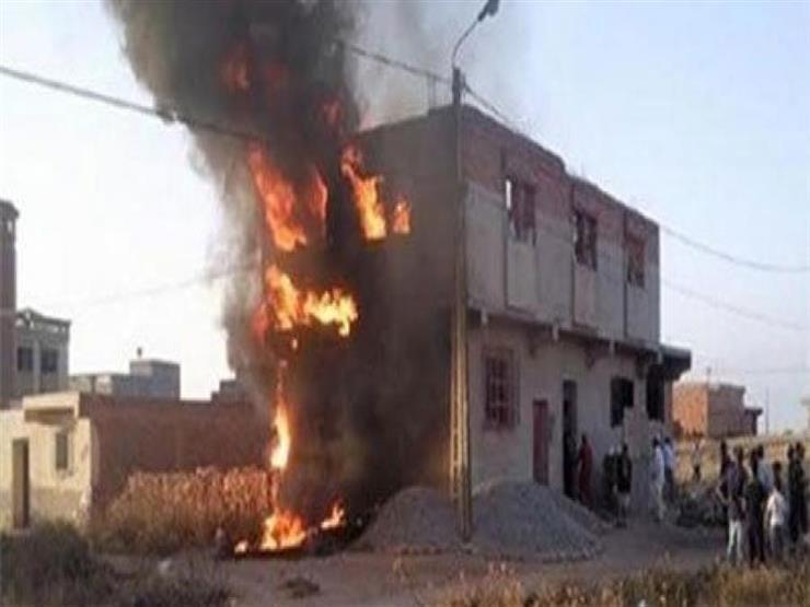 النار تلتهم 3 أطفال بالشرقية إثر حريق منزلهم