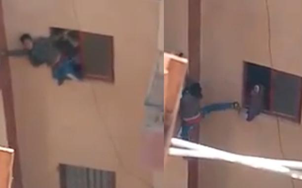 تصرف صادم من أم فقد ابنها المفاتيح داخل الشقة