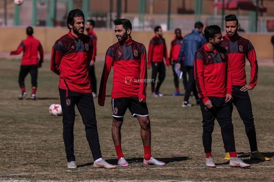 حسين الشحات يشارك فى مران الأهلي
