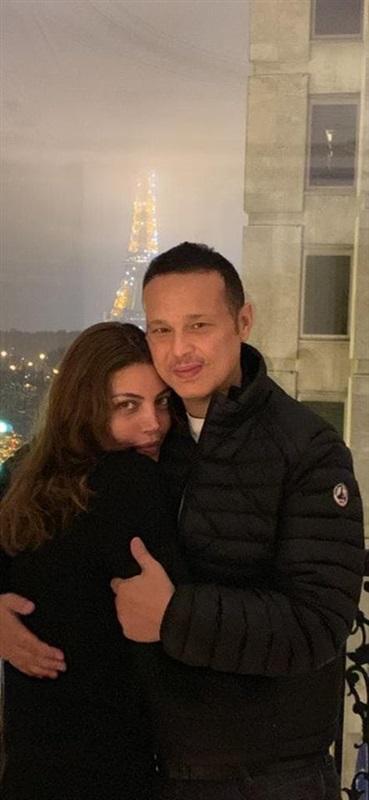 ريهام حجاج وطليق غادة عادل بعد زواجهما