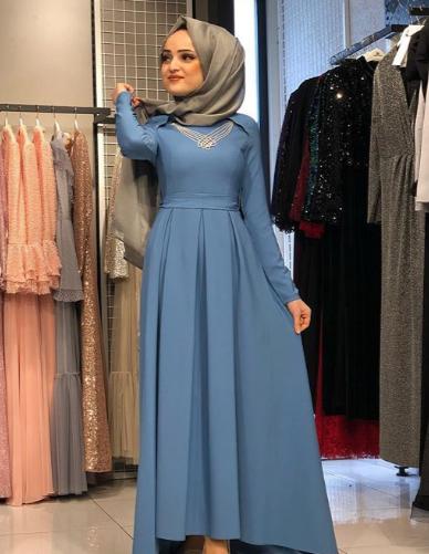 أحدث فساتين سواريه محجبات 2019
