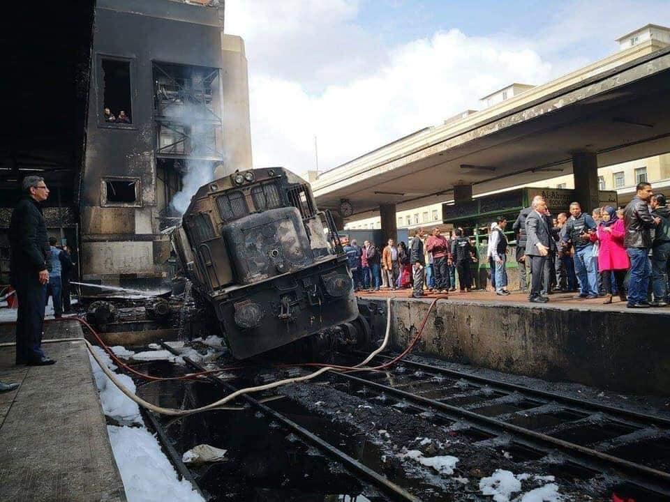 ارتفاع عدد ضحايا حادث قطار محطة مصر لـ 22 شخص