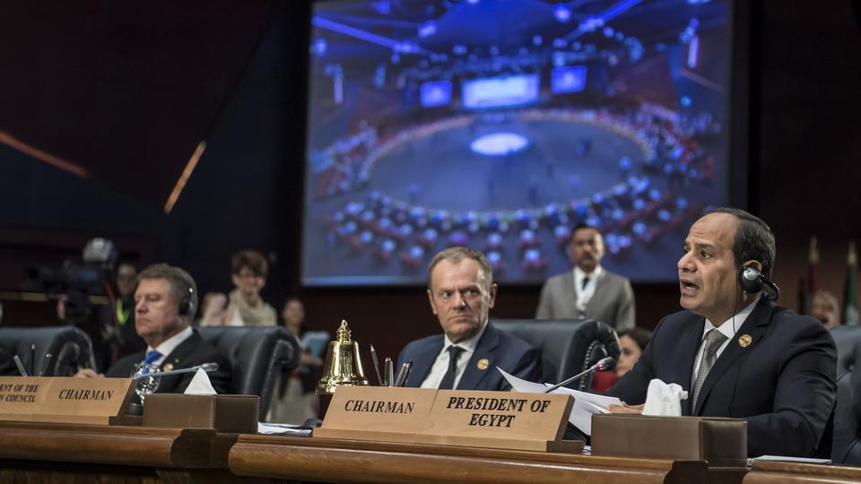 السيسي القمة تعتبر تعميق للتعاون العربي الأوروبي