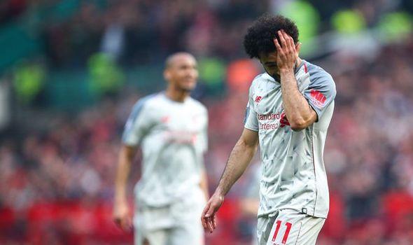 بكاء محمد صلاح بعد تعادل ليفربول أمام مانشستر يونايتد