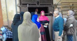 جولة ميدانية لرئيس مركز ومدينة الحسينية على بعض المخابز بالمركز