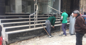 حملة لرفع الإشغالات والقمامة بمنطقة الغشام بالزقازيق