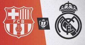 قناة مفتوحة على تنقل مباراة برشلونة وريال مدريد في كلاسيكو كأس اسبانيا