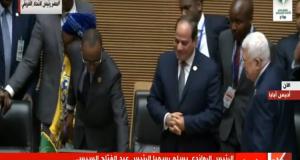 لحظة تسلم السيسي لرئاسة الاتحاد الأفريقي