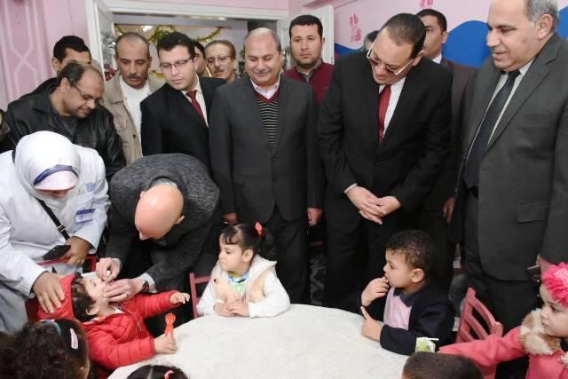 الشرقية يطلق الحملة القومية للتطعيم ضد شلل الأطفال 4
