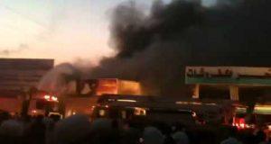 نشوب حريق في سوق بالشرقية والدفع بـ 5 سيارات إطفاء