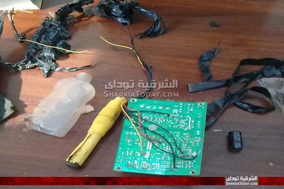 الصور الأولى للقنبلة البدائية الصنع التي عُثر عليها في محكمة أبوحماد 36