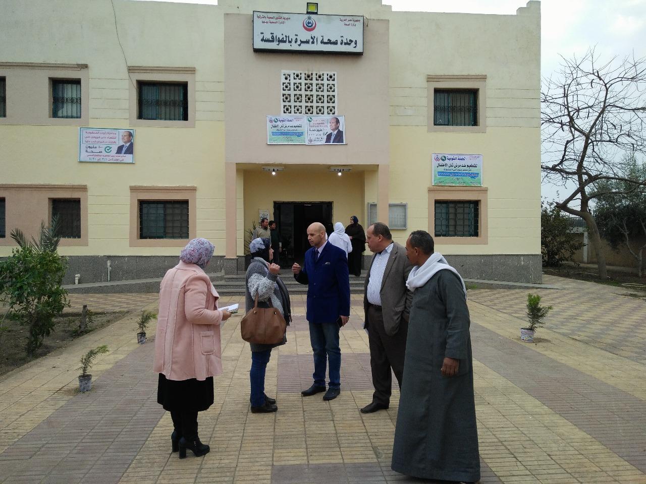 وكيل صحة الشرقية يتفقد وحدات مركز ههيا الصحية