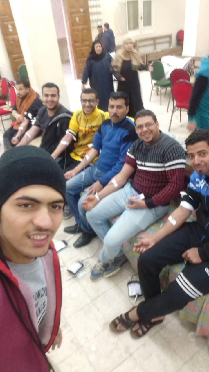 241 كيس دم بحملة تبرع بقرية تليجة كفر صقر