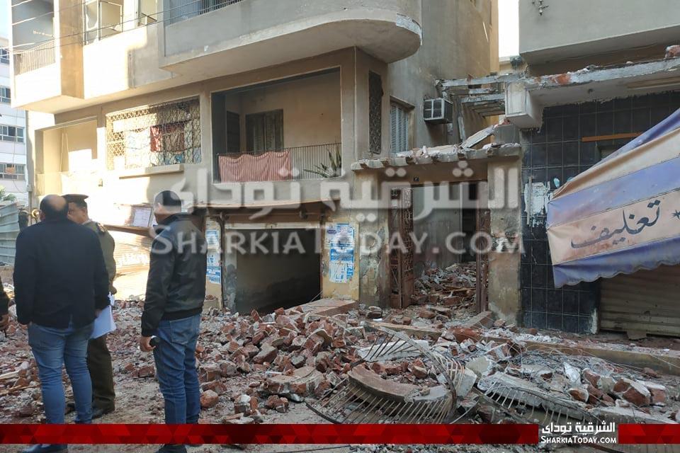 الصور الأولى من موقع انفجار شقة بالزقازيق