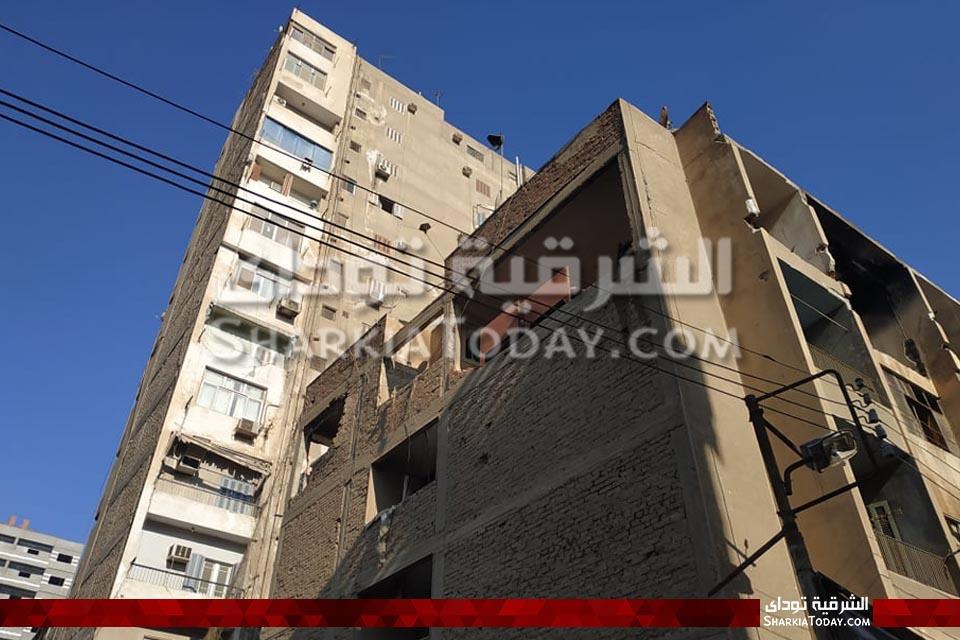 محمد الصافي يكشف الأضرار الأولى لانفجار شقة بالزقازيق