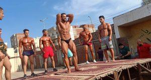 مركز شباب القنايات ينظم بطولة كمال الأجسام للشباب