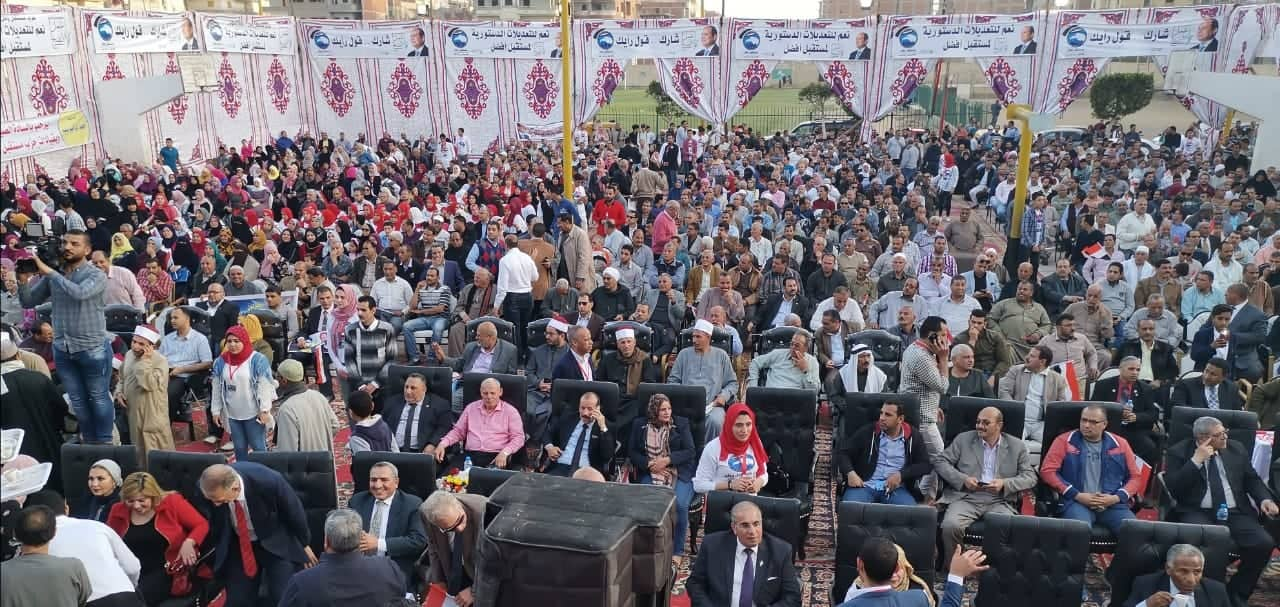 فاقوس تستعد للتعديلات الدستورية بمؤتمر جماهيري حاشد3