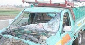 إصابة 10 عمال فى انقلاب سيارة بالشرقية