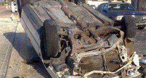 إصابة 4 أشخاص في انقلاب سيارة بالشرقية