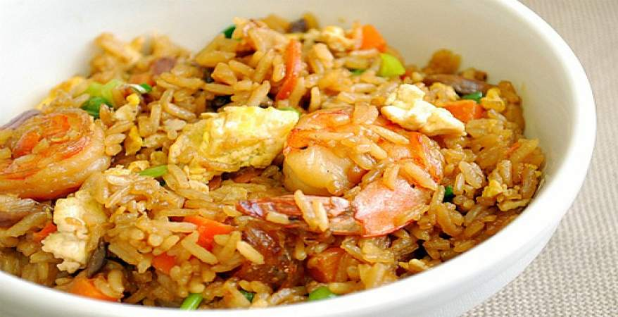 إفطار 24 رمضان 2019 أرز بالجمبري وسلطة زبادي