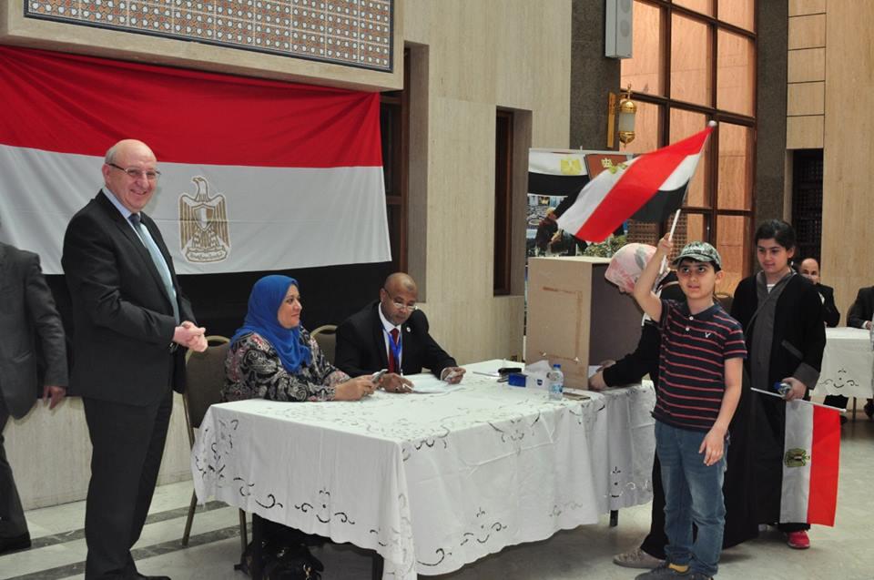 المصريون في الاستفتاء على التعديلات الدستورية في السعودية