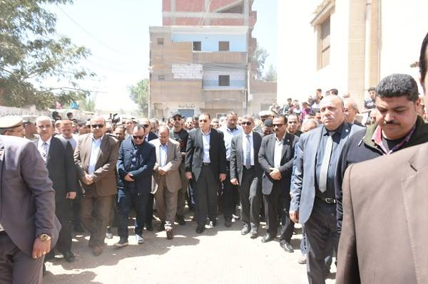جنازة الرائد «ماجد صبري» رئيس مباحث الشيخ زويد بفاقوس