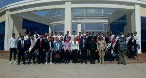 فوج من طلاب جامعة الزقازيق في زيارة للكلية الحربية