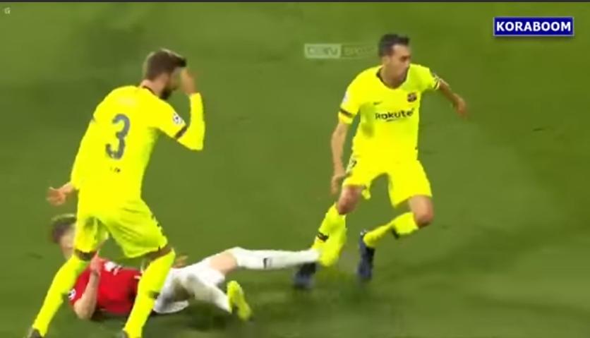 ملخص مباراة برشلونة ومانشيستر في دوري الأبطال