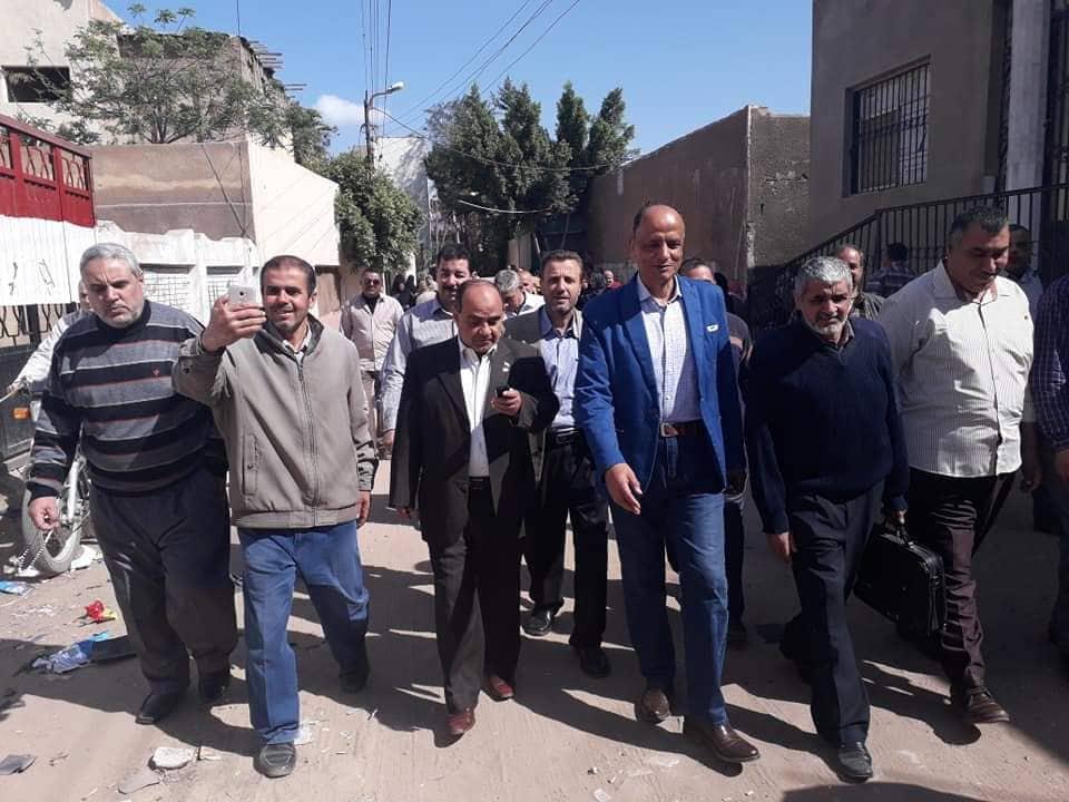 إدارة الحسينية يتابع سير العملية الانتخابية لتعديل الدستور