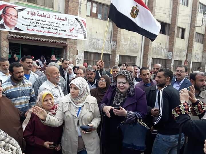حاشدة بالقنايات لحث المواطنين على الاستفتاء على التعديلات الدستورية