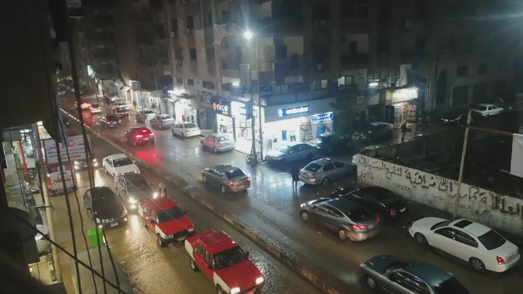 مطر في الزقازيق