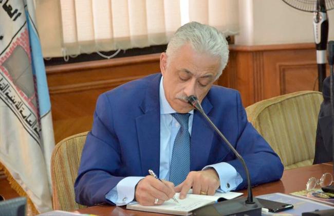 الدكتور طارق شوقي وزير التربية والتعليم يعتمد جدول أولى ثانوي