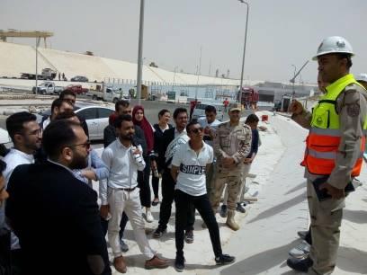 طلاب جامعة الزقازيق في زيارة لأنفاق الإسماعلية
